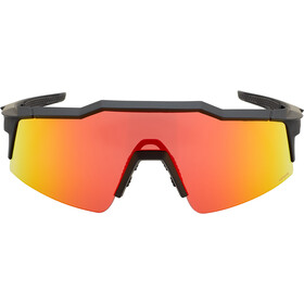 100% Speedcraft Gafas Pequeño, soft tact black | hd multilayer red mirror